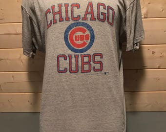Vintage 1980's Chicago Cubs Super Thin and Soft 50/50  T-Shirt