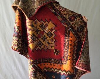 SALE Turkish tribal rug, vintage, wool  4x6ft