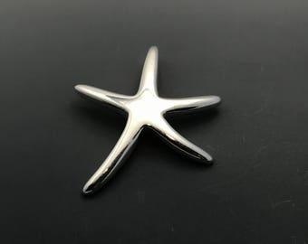 Starfish Charm, Sterling Silver