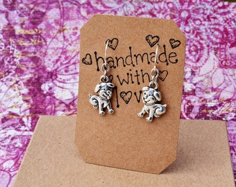 Puppy Earrings - Dog Earrings - Puppy Jewelry - Puppy Love Earrings - Cute Puppies - Animal Lover Gift, Dog Lover Gift