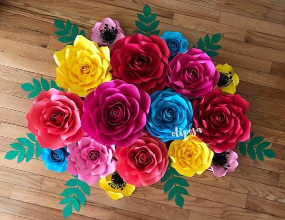 16 pc paper flower wall decor fiesta coco paper flowers nursery il570xn mightylinksfo