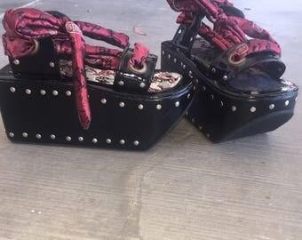 Unique harajuku goth punk lolita platform sandals