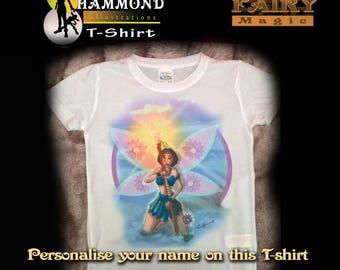 Fairy white t-shirt- flower of hope