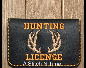 Hunting card etsy for Fishing license il