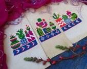 Set Of Cactus Cross Stitch, Modern Cross Stitch Pattern, Succulent Cross Stitch Pattern, Cross Stitch Cactus Plant, Mexican Cross Stitch