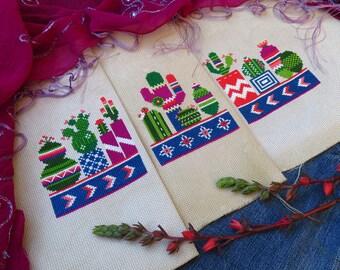 Modern Cross Stitch Pattern, Cactus Cross Stitch, Succulent Cross Stitch Pattern, Cross Stitch Cactus Plant, Mexican Cross Stitch