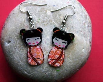 These earrings cute Asian girl