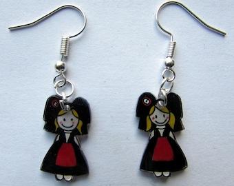 """""""small Alsatian"""" earrings"""