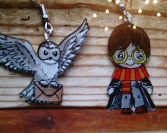 Harry Potter and his friend Hedwig