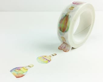 Hot Air Balloons Pattern Washi Tape, Colorful Hot Air Balloons, Japanese Paper Tape, Birthday Party Supplies // Paper Tape //CR-W-P671