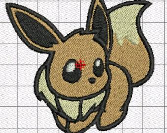 Embroidery Pattern Pokemon Eevee patch 7x7Cm