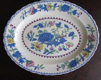 Vintage Masons platter, ironstone china, Staffordshire serving plate  Regency Plantation Colonial. Use/display Cottage/farmhouse home decor