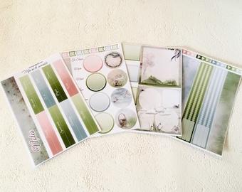 Breeze - March - Note page planner stickers - 4pages - Erin Condren - Plum Paper - Kikki K - Paperchase - Filofax