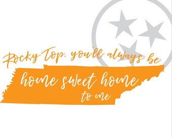 Rocky Top Tennessee state print