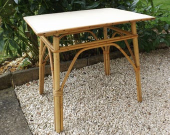 Vintage formica table bamboo / bamboo vintage rattan wicker furniture