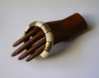 Vintage bone and brass/old/jewelry Bracelet handcrafted bracelet / antiquityfrench / bone jewelry