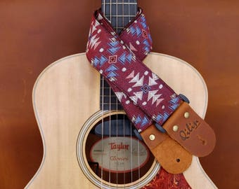 Red Woven  Guitar Strap