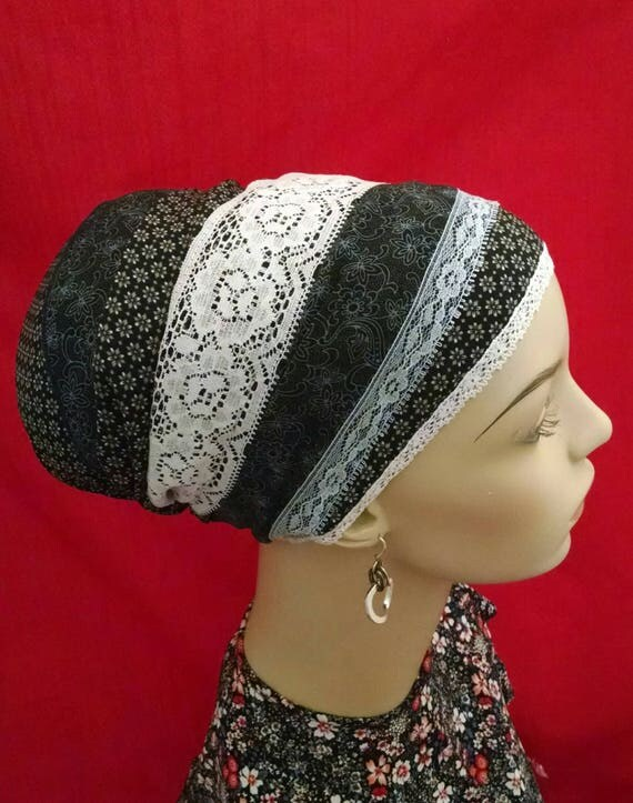 Exquisite navy design everyday tichel, sinar tichels, head scarves, hair snoods