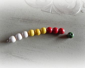 10 round beads howlite color Crackle media effect 8 mm