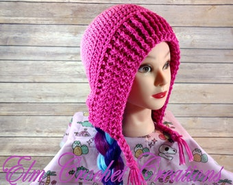 Hand Crochet Pixie Bonnet, Hood, Slouch, Hat! Ready to ship!