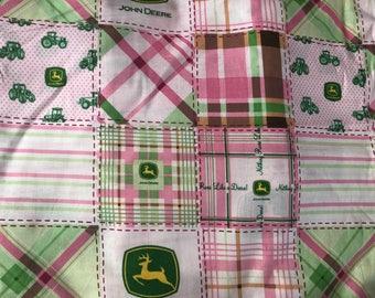 John Deere Pink Fabric