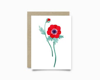 Greeting card - Anemone