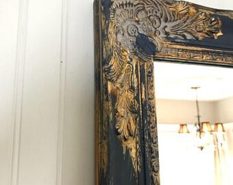 Blue And Gold Wedding Mirror Living Room Bathroom Vanity Navy