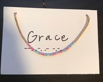 Grace Morse Code Bracelet