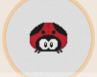 Ladybug - Cross stitch pattern