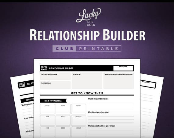 Relationship Builder - CLUB Printable Exercise
