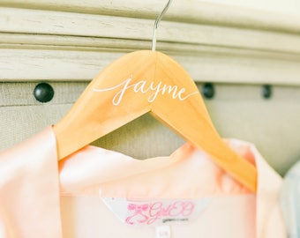 Calligraphy Wedding Hanger // bridal gift // bridal hanger // wedding gift // gift for her // wedding day