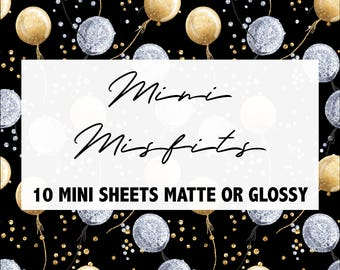 Mini Misfit Grab Bags! | Matte Glossy Planner Stickers