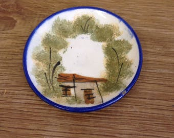 Vintage Unnamed with Landscape / Scenic Pin Dish. Possibly Italian. Great Condition.