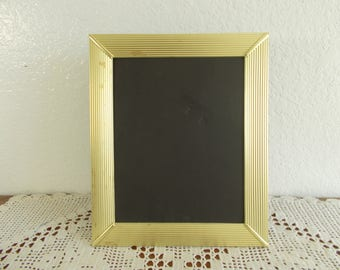 Vintage Gold Metal Picture Frame 7.5 x 9.5 Photo Decoration Mid Century Hollywood Regency Retro Cottage Home Decor Shabby Chic Wedding