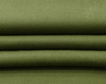 """Olive Green Fabric, Home Decor, Ethnic Fabric, Quilt Material, Dress Fabric, 40"""" Inch Rayon Fabric By The Yard PZBR3R"""