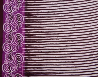 "Quilt Fabric, Purple Stripe Print, White Fabric, Dressmaking Fabric, Sewing Material, 43"" Inch Cotton Fabric By The Yard ZBC1748A"