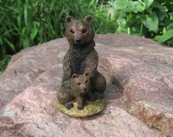 Living Stone Miniature(Mini) Brown Grizzley Bear