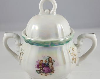 Vintage Lusterware Made in Japan Sugar Bowl