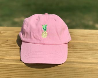 Pineapple embroidered ball cap