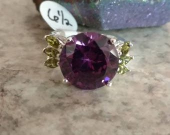 CLEARANCE *Amethyst and Peridot Party Ring