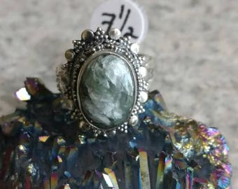 Seraphinite Ring, Size 7 1/2
