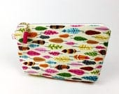 Feather cosmetic bag, fea...