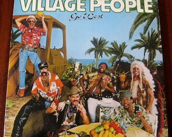 Go West by the Village People Vintage Vinyl LP 1979 VG+ *W/ Poster!*