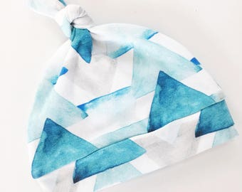 Blue Watercolor Triangle Hat