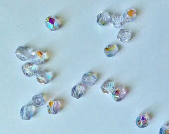 20 beads 4 mm Czech faceted light amethyst AB