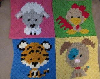 Baby animal blanket