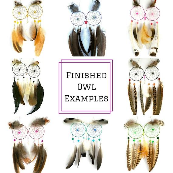 DIY Kit Owl Dream Catcher kit - craft kits owl ...