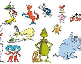 Dr Seuss Characters  Rare Vintage Poster