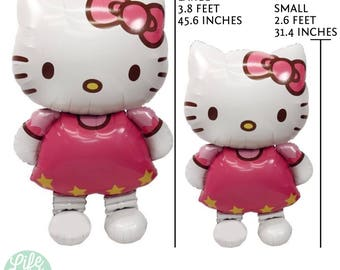 "3.8 feet (45"" inches) / 2.6 feet (31"" inches)  Hello Kitty Balloon"