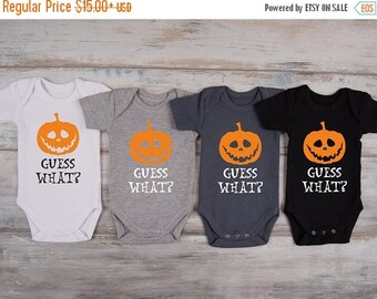 LATE SHIP SALE Halloween Pregnancy Announcement One Piece, Pregnancy Reveal To Grandparents / Family, Pregnancy Announcement Shirt, Baby Rev